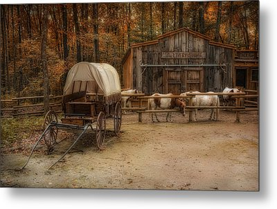 Elk Horn Livery Stable Metal Print by Robin-Lee Vieira