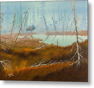 Metal Print featuring the painting Elk Swamp by Richard Faulkner