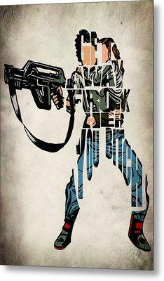 Ellen Ripley From Alien Metal Print by Ayse Deniz