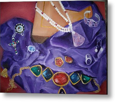 Metal Print featuring the painting Ellen's Bling by Ellen Canfield