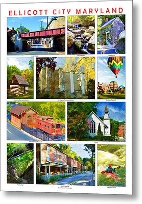 Metal Print featuring the photograph Ellicott City Maryland by Dana Sohr