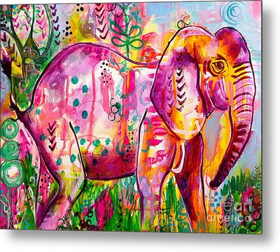Ellie The Elephant Metal Print