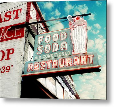 Elliston Place Soda Shop Metal Print