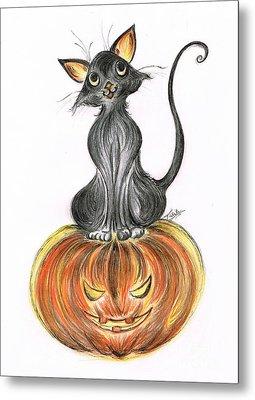 Elma's Pumpkin Metal Print by Teresa White