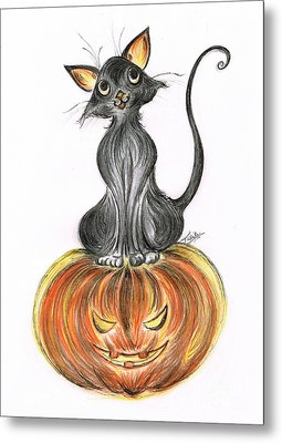 Elma's Pumpkin Metal Print