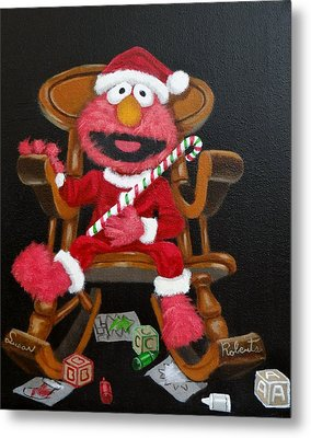 Metal Print featuring the painting Elmo  by Susan Roberts