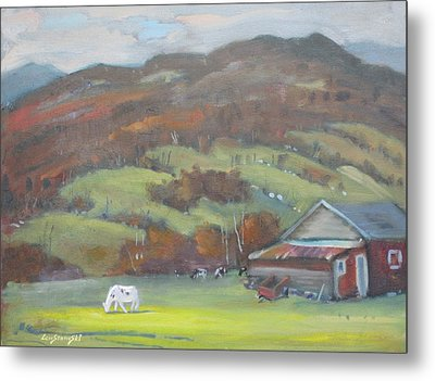 Metal Print featuring the painting Elsie by Len Stomski