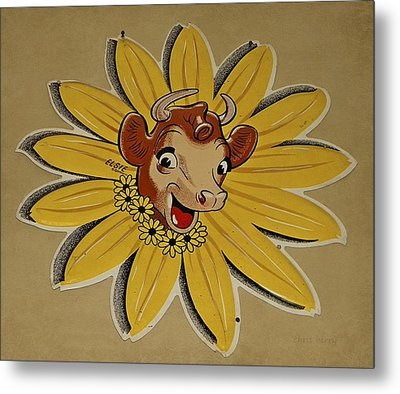 Elsie The Borden Cow  Metal Print by Chris Berry
