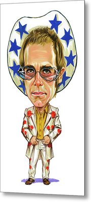 Elton John Metal Print by Art