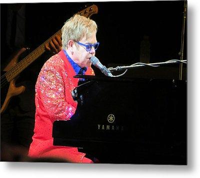Elton John Live Metal Print by Aaron Martens