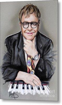 Elton John Metal Print by Melanie D