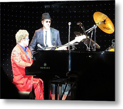 Elton Plays The Blues In Macon Ga Metal Print by Aaron Martens