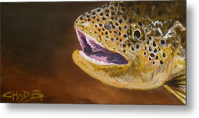 Metal Print featuring the painting Elusive Brown by Chad Berglund