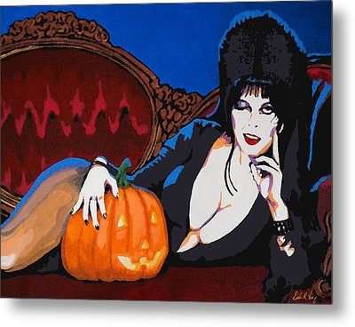 Elvira Dark Mistress Metal Print