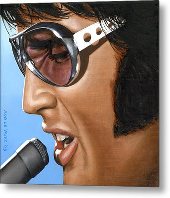 Elvis 24 1970 Metal Print by Rob De Vries