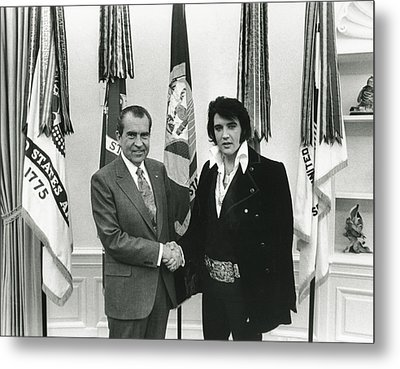 Elvis And Nixon Metal Print by Unknown