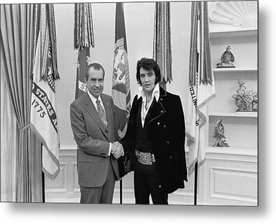 Elvis And The President Metal Print by Mountain Dreams