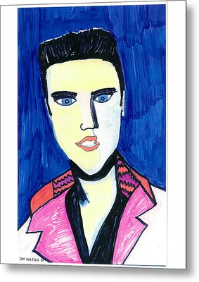 Metal Print featuring the painting Elvis by Don Koester