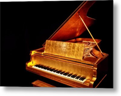 Elvis' Gold Piano Metal Print
