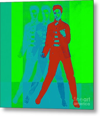 Elvis Jail House Rock 20130215p68 Metal Print by Wingsdomain Art and Photography