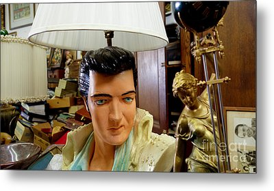 Elvis Lamp In Antique Shop Metal Print by Amy Cicconi