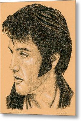 Elvis Las Vegas 69 Metal Print by Rob De Vries