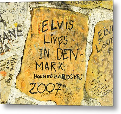 Metal Print featuring the photograph Elvis Lives In Denmark by Lizi Beard-Ward