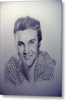 Elvis Metal Print by Lori Ippolito