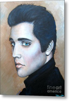 Metal Print featuring the painting Elvis by Patrice Torrillo