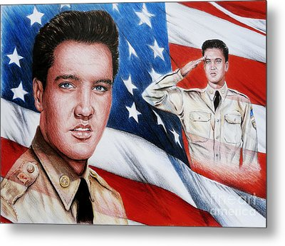 Elvis Patriot  Metal Print by Andrew Read