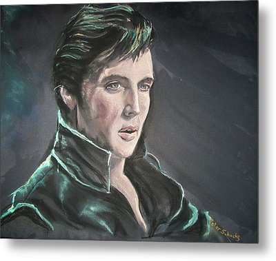 Metal Print featuring the mixed media Elvis by Peter Suhocke