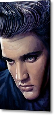 Elvis Presley Artwork 2 Metal Print by Sheraz A