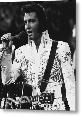 Elvis Presley Singing Metal Print by Retro Images Archive