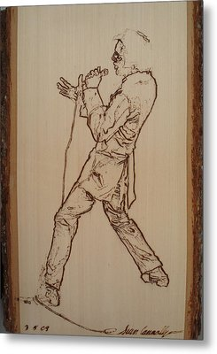 Elvis Presley - If I Can Dream Metal Print by Sean Connolly