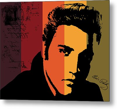 Elvis Presley Metal Print by Kenneth Feliciano