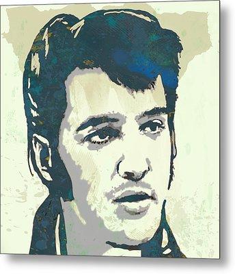 Elvis Presley - Modern Pop Art Poster Metal Print by Kim Wang
