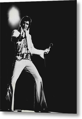 Elvis Presley On Stage Metal Print by Retro Images Archive