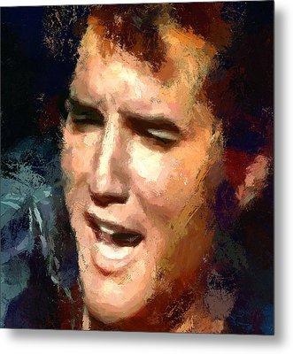 Elvis Presley Portrait 2 Metal Print
