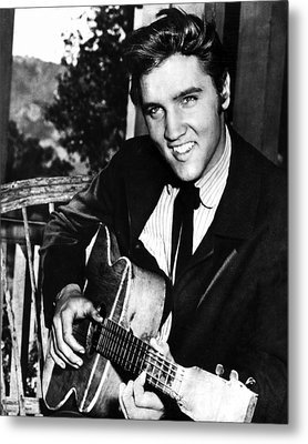 Elvis Presley Smiles  Metal Print by Retro Images Archive