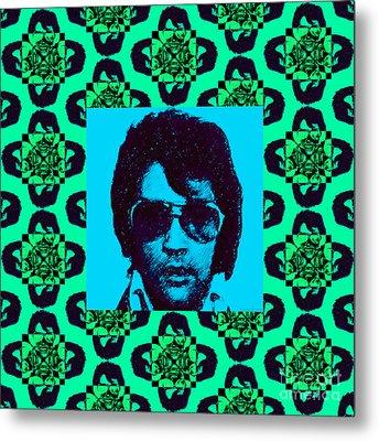 Elvis Presley Window P128 Metal Print by Wingsdomain Art and Photography