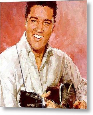 Elvis Singing 3 Metal Print