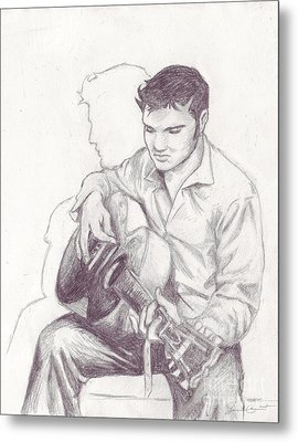 Elvis Sketch Metal Print