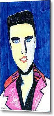 Elvis The King Metal Print by Don Koester