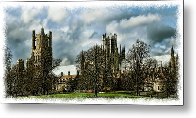 Ely Cathedral In Watercolors Metal Print by Joanna Madloch