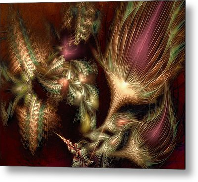 Metal Print featuring the digital art Elysian by Casey Kotas