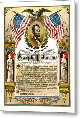 Emancipation Proclamation Tribute 1888 Metal Print