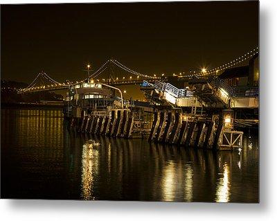 Embarcadero Boats Metal Print by Bryant Coffey