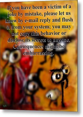 Embarrassing Consequences Metal Print by Marcello Cicchini