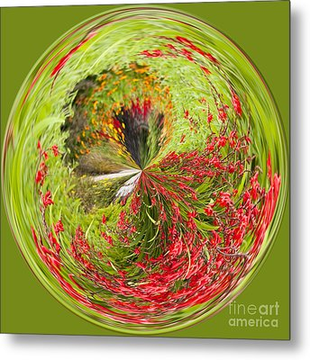 Emberglow Orb Metal Print by Anne Gilbert