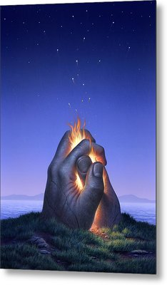 Embers Turn To Stars Metal Print by Jerry LoFaro